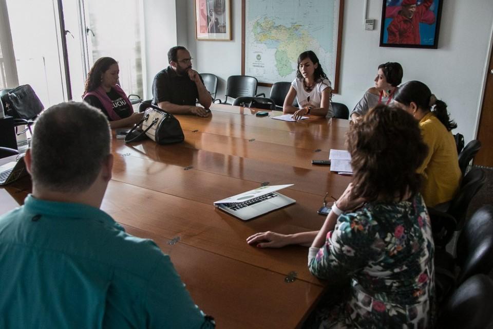 Reunião com o Ministro da Cultrua da Venezuela. Foto Rafael Vilela