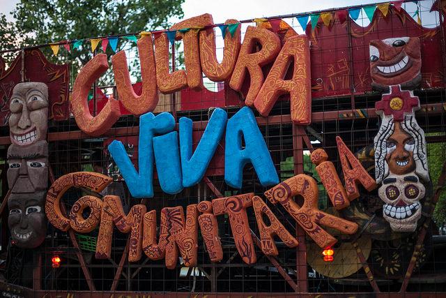 Caravana CVC durante o I Congresso Nacional de Cultura Viva Comunitária. Foto: Oliver Kornblihtt