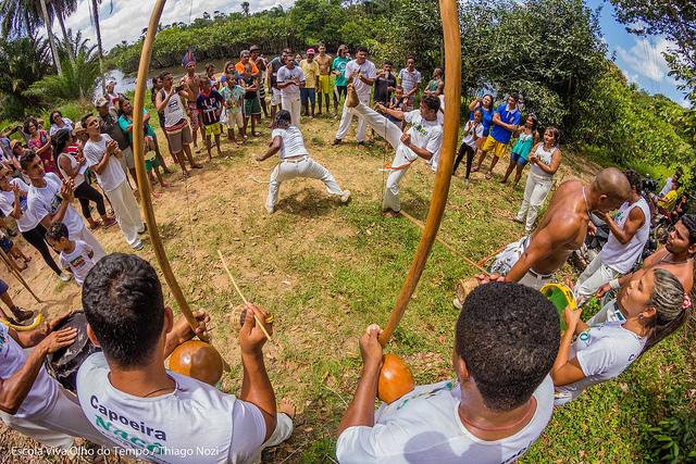 Roda de capoeira na ocupação do Rio Gramame. Foto: Thiago Nozi