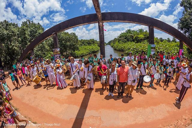 Ocupação do Rio Gramame. Foto: Thiago Nozi