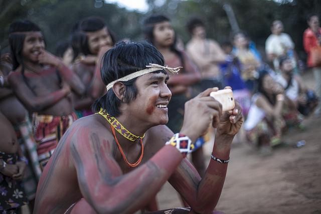 Aldeia Multiétnica no XV Encontro de Culturas Tradicionais da Chapada dos Veadeiros. Foto: Oliver Kornblihtt