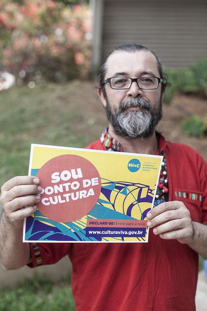Leandro Anton, do Ponto de Cultura Quilombo do Sopapo (RS). Foto: Oliver Kornblihtt