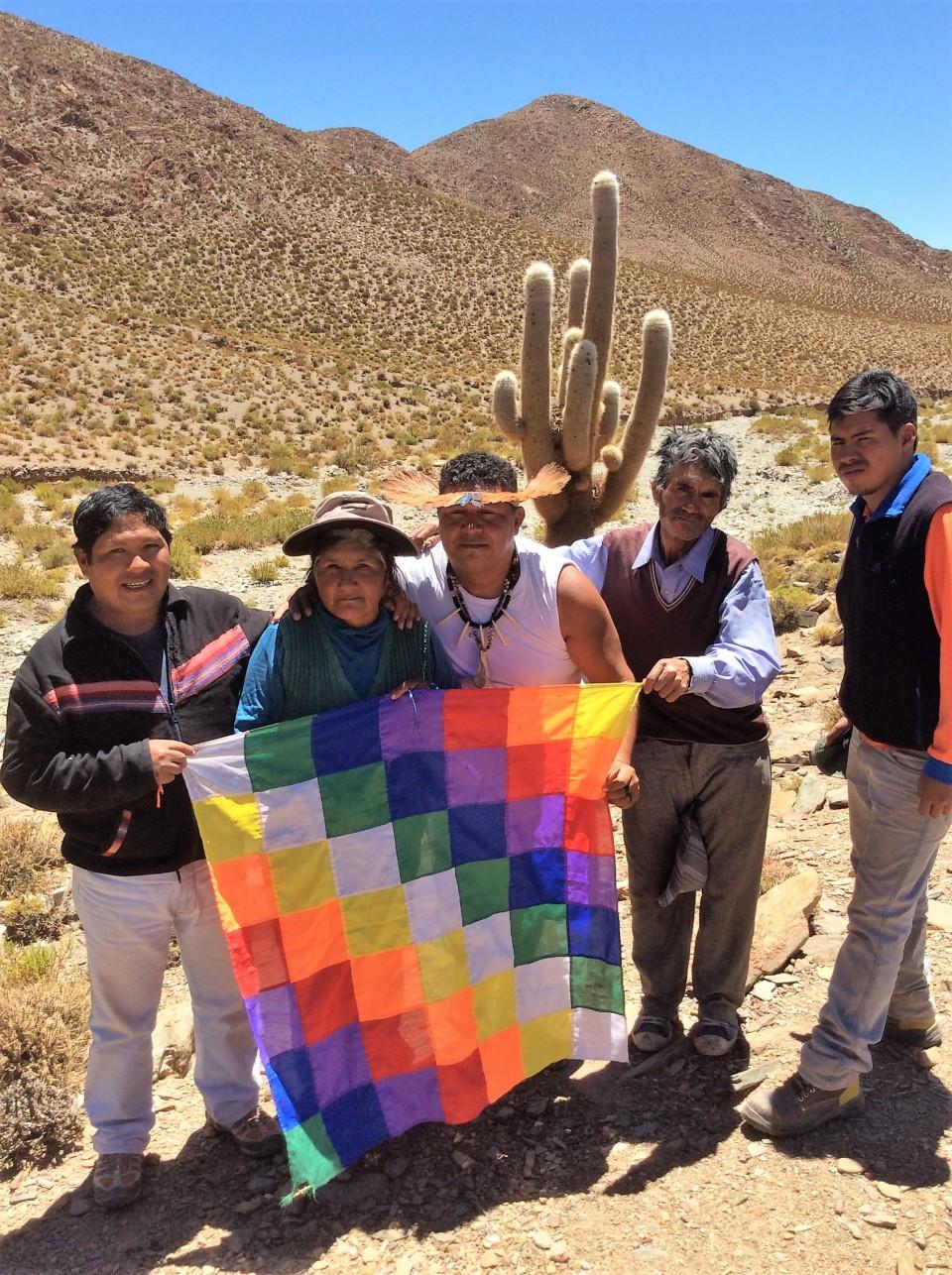Alfredo Casimiro e seu povo Atacameño recebe Atiã Pankararu em Salta (Arg)